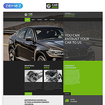Car Repair  Service Website Template #52961