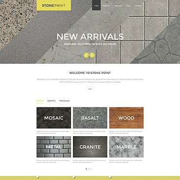 Flooring Materials Joomla Template #52985