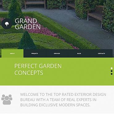Garden Design Moto CMS HTML Template