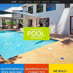 Pool Cleaning Moto CMS HTML Template