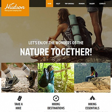 Hiking Moto CMS HTML Template