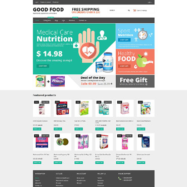 Nutrition Store Responsive Shopify Theme