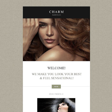 Hair Salon Responsive Newsletter Template