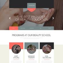 Beauty School Responsive Website Template