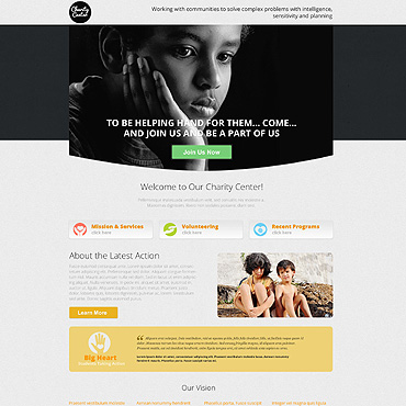 Charity Responsive Landing Page Template