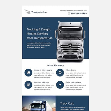 Transportation Responsive Newsletter Template