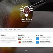 Art Studio Moto CMS HTML Template