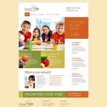 Primary School Responsive Website Template