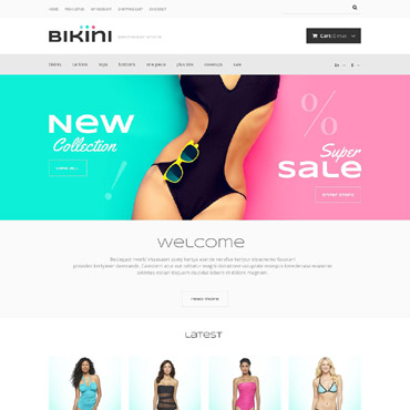 Women Swimwear Store OpenCart Template #53325