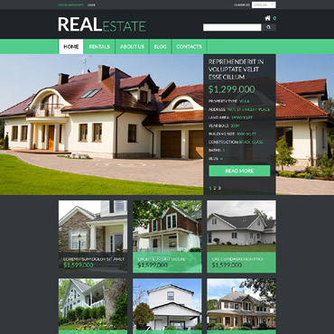Real Estate Agency Responsive VirtueMart Template
