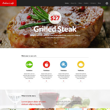 Cafe and Restaurant WordPress Theme #53373