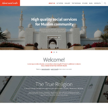 Islamic Social Center Responsive Website Template