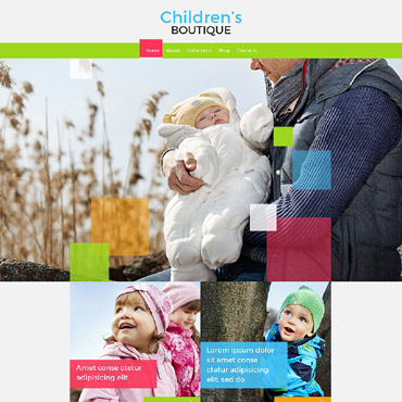 Baby Store Responsive Website Template