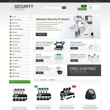 Security Responsive PrestaShop Theme #53441