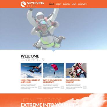 Skydiving Responsive Website Template