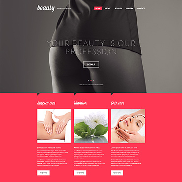 Treatments for Celulite Website Template #53537