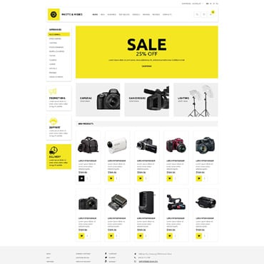 Photo and Video Store OsCommerce Template #53585