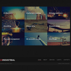 Industrial Moto CMS HTML Template