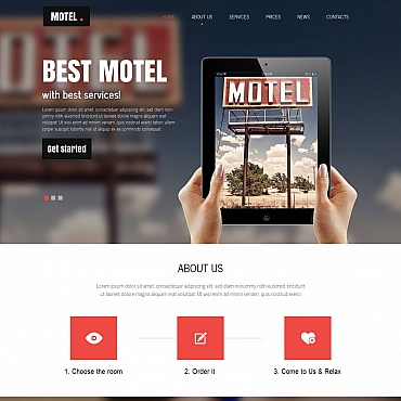 Motel Moto CMS HTML Template