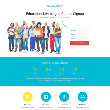 Education Responsive Landing Page Template