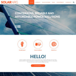 Solar Energy Responsive Website Template