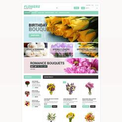 Flower Shop Responsive ZenCart Template