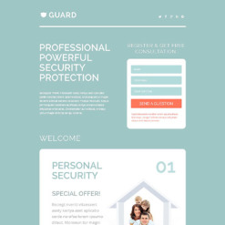 Security Responsive Landing Page Template