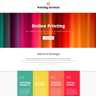 Print Shop Responsive Landing Page Template