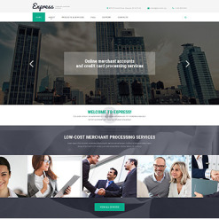 Bank Responsive Website Template