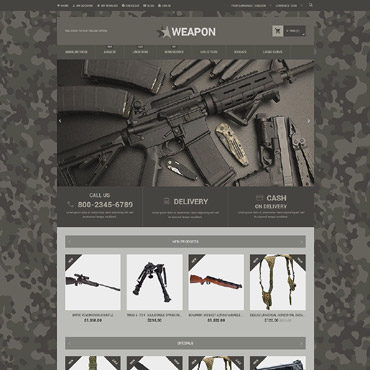 Weapons Store Responsive Magento Theme
