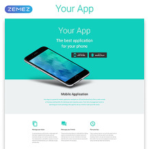 Software Responsive Landing Page Template