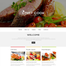 Chef Responsive Website Template