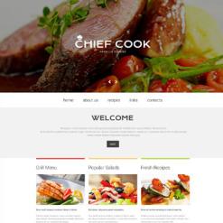 Chef Responsive Website Template