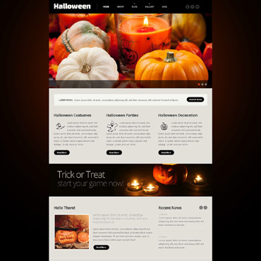 Halloween Responsive Website Template #54013