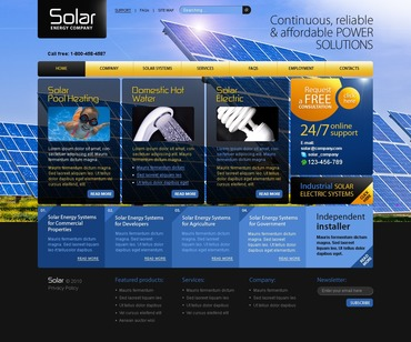 Solar Energy PSD Template #54297