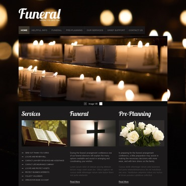Funeral Services PSD Template