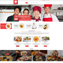 Cooking School Responsive Website Template