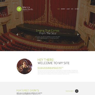 Singer Responsive Website Template