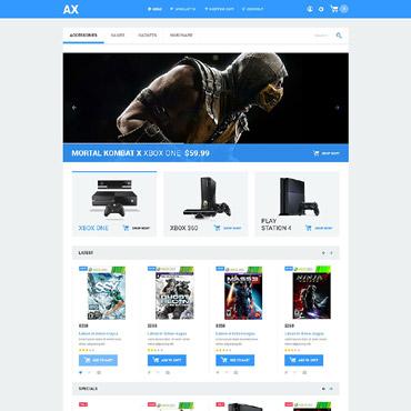 Games Responsive OpenCart Template