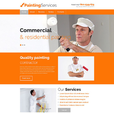 Painting Services Website Template #54649