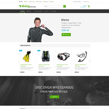 Diving Responsive Magento Theme