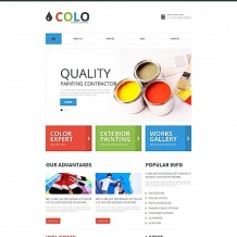 Painting Company Moto CMS HTML Template