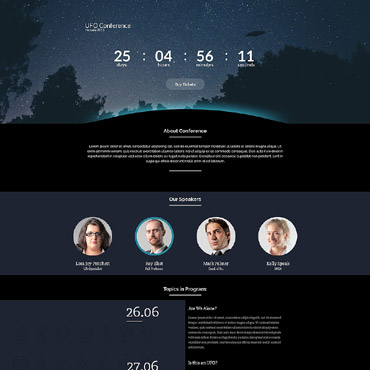 UFO Responsive Landing Page Template