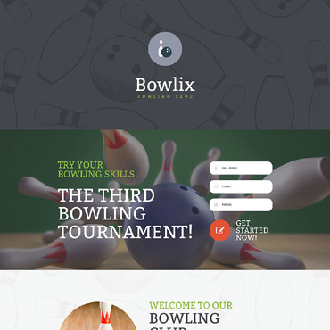 Bowling Responsive Landing Page Template