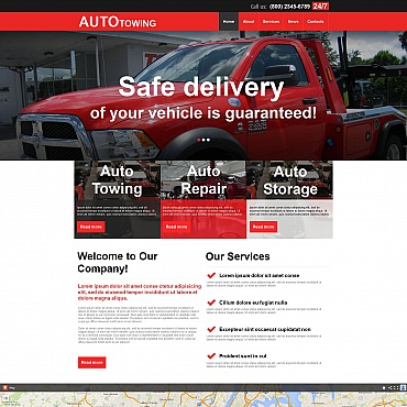 Auto Towing Moto CMS HTML Template
