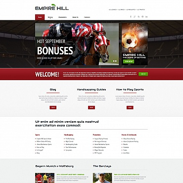 Online Betting Moto CMS HTML Template
