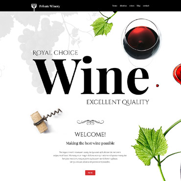 Winery Responsive WordPress Theme