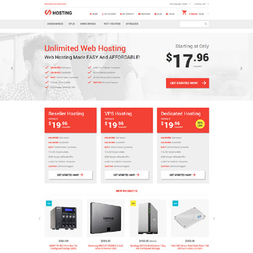 Hosting Online Store Magento Theme #54805