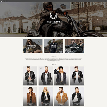 Bike Shop Responsive Website Template