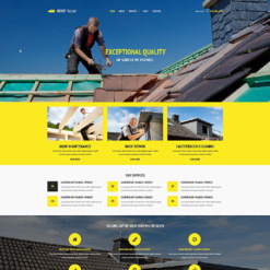 Roofing Company Responsive Website Template
